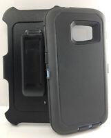 For Samsung Galaxy S7 Defender Shockproof Case w/Holster Belt Clip - Gray / Blue