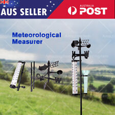 Outdoor Garden Weather Station Meteorological Measurer Vane Rain Gauge Wind Tool