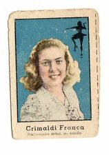FIGURINA NANNINA  TECNICOLOR 2° SERIE  APRILE  1947   PATTINAGGIO  CRIMALDI