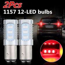 2x Red 1157 LED Flashing Strobe Blinking Tail Stop Brake Lights Bulbs Universal