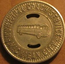 1955 Michigan City, IN Coach Service Transit Bus Token - Indiana Ind.
