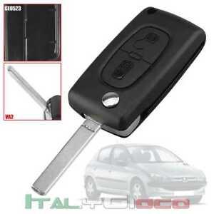 Cover Guscio Chiave CE0523 VA2 Telecomando due Tasti Key Citroen C2 C3 C4 C5 C6