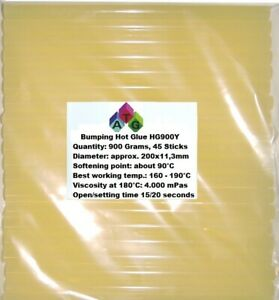 Hotmelt for remove Dents Yellow with resin 900 grams 45 Sticks approx 200 x 11mm