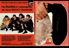 THE BEATLES - BRAVO Starschnitt von 1966