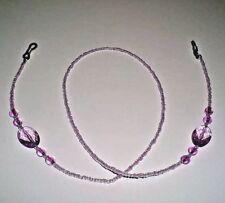 Purple Beaded Eye Glasses Holder Neck Strap Cord Lanyard Chain Party Favor Gift