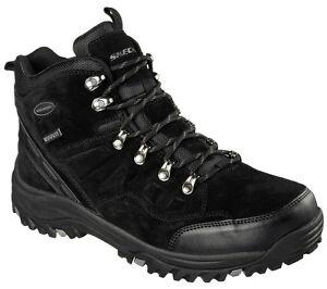 Men's SKECHERS Relaxed Fit: Relment - Pelmo Boot, 64869 /BLK Sizes 8.5-14 Black
