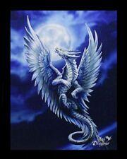 Kleine Leinwand Silberdrache - Silver Dragon - Anne Stokes Fantasy Bild Druck