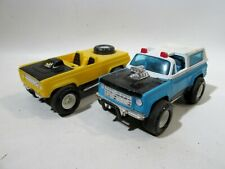 Pair 1970s Marx Toys 5.5� Plastic Racers Trucks Cars
