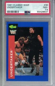 #30 1991 Classic WWF THE UNDERTAKER Rookie In Action Wrestling Card PSA 7.5