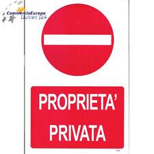 CARTELLO SEGNALETICO PROPIETA' PRIVATA DIVIETO D'ACCESSO 30X20cm SICUREZZA STOK