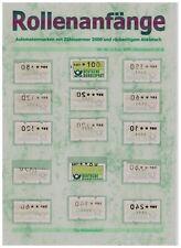 Exklusive Sammlung grüne ROLLENANFÄNGE hohe Werte 2000 + Abklatsch ** 150.-€++