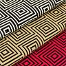Cotton Fabric per FQ Square Triangle Geometric Graphic Dress Quilt Patchwork VS3