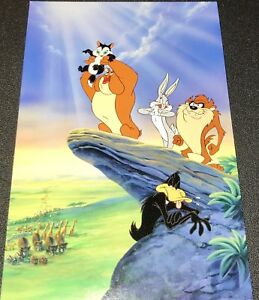 Warner Brothers Bugs Bunny Taz Daffy Duck Marc Anthony Lion King Cel Promo Card
