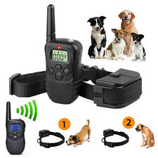 New Pet Dogs Remote Training Collar Electric LCD 100LV Shock Anti Bark &Battery