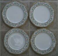 LOT OF 4  NORITAKE SAKURA  9704  SALAD / DESERT PLATES  about 8 1/8 inches