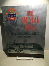 Spectacular 1951 MLB All Star Game Program Briggs Stadium Detroit