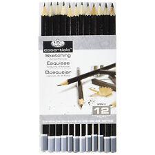 Graphite Sketching Pencil 12 Pack Writing Drawing Shading Artist Supply Kit Tool