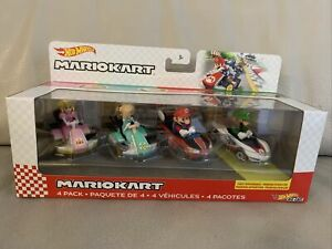 Hot Wheels MarioKart 4 pk Rosalina Peach Mario Luigi by Mattel