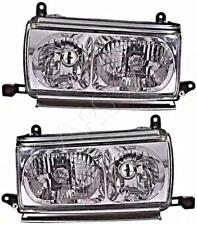 Headlight Set Crystal Clear For TOYOTA Land Cruiser 80 1990-1997