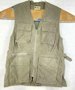 Womens Vintage LL Bean Tropic Travel Hunting Fishing Photography Green Vest Sz S