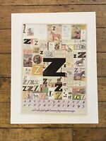 Peter Blake The Alphabet Series Z Screen Print Colour Limited Edition Signed