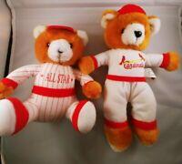 lot of 2 baseball bears plush