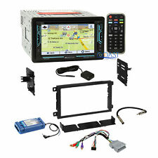 Planet Audio DVD Bluetooth GPS Stereo Dash Kit Amp SWC Steering Harness for GM