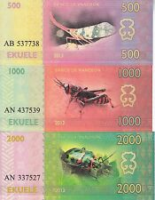 Annobon set 5 banknotes 2013 UNC (private issue)
