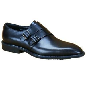 Men's Business Leather Shoes Double Buckle Formal Party Weeding Flat 46 45 44 37
