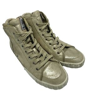 NEW, ASH CHAMPAGNE COLOR HIGH TOP SNEAKERS, 39, $295