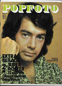 Popfoto Nr.337 von März 1972 mit Riesenposter George Harrison, Deep Purple...