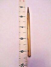 Vintage Purse Size Gold Tone Shiny Metal Mechanical Lead Pencil Refillable