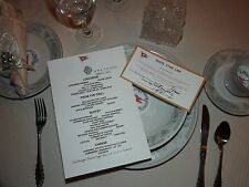 R.M.S. Titanic Ticket and Menu with Bonus Post Card and Period Stamps!