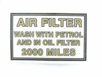 Air Filter Box Sticker Suitable For Royal Enfield