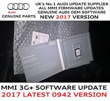 Audi A1  MMI 3G+ Plus Genuine USA 2018 Firmware Update 0942 For 2018 Maps