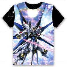 Anime GUNDAM T-shirt Short Sleeve Unisex Loose Black TEE Tops Cosplay S-3XL#7-01