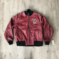 President Seal Barack Obama Leather Air Force One Distressed Jacket Chicago Sz S