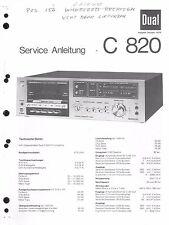 Dual Service Manual für C 820