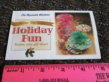 Reynolds Plastic Wrap Collectible Holiday Fun Ideas Using Colors Sheet Brochure