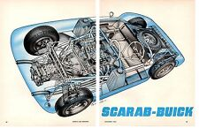 1962 SCARAB-BUICK  ~  NICE ORIGINAL 2-PAGE CUT-A-WAY