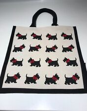 Eco-friendly Jute shopper bag - Multiple Scottie(Medium)