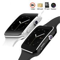 Luxus SmartWatch X6 Bluetooth Uhr Android Samsung Phone SIM Smart Watch LG