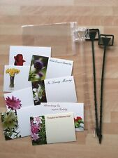 25 Plain & Remembrance Florist Cards Plastic Sleeves Card Holders Funeral Grave