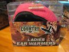 Ladies Mossy Oak Ear Warmer Muffs Break-Up Camo & Pink OSFM Women's Hunting Hat