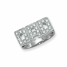 Cubic Zirconia Sterling Silver Rings for Men