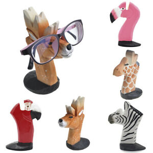 Cute Animal Head Glasses Holder Stand 3D Wood Rack For Sunglasses Eyeglass
