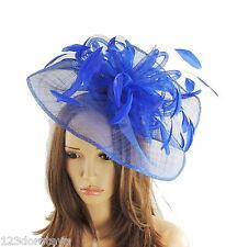 Royal Blue Fascinator Hat for weddings/ascot/proms H2