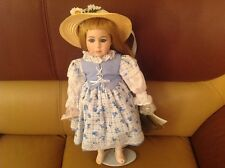 """SEYMOUR MANN 17"""" PORCELAIN DOLL """"Betty Blue Loses Shoe"""" LIMITED EDITION +stand."""