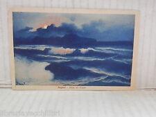 Vecchia cartolina foto d epoca di NAPOLI ISOLA DI CAPRI MARE PANORAMA VEDUTA