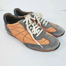 Cole Haan Mens 11M Air Sole Suede Shoes Orange Blue Sneakers